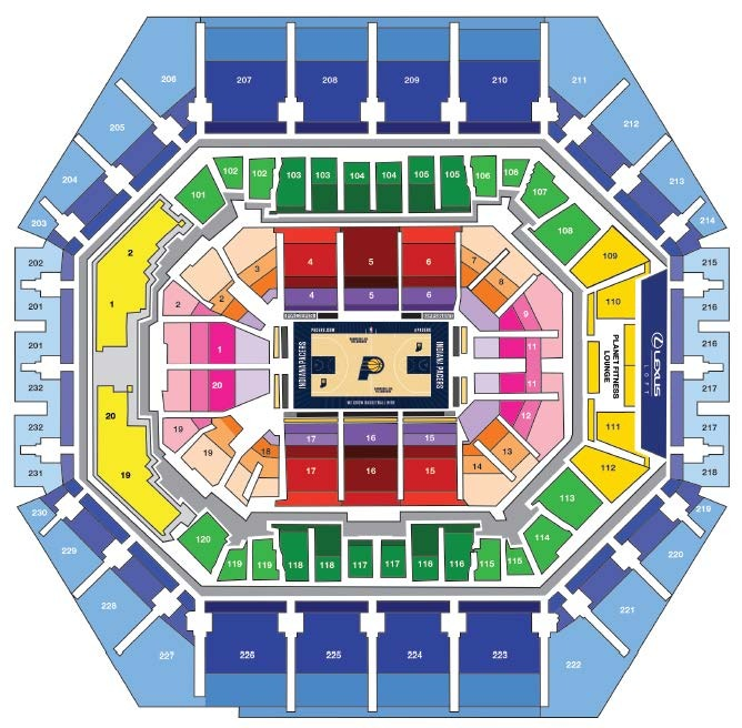 Pacers Stadium Layout